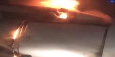 Relacionada turbina en llamas avion