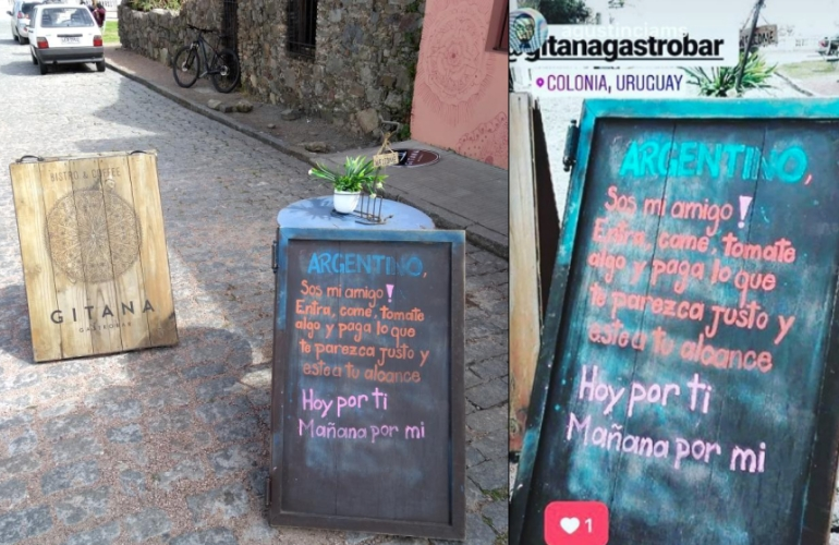Restaurante oferta hermano argentino paga lo que puedas