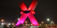 Relacionada iluminan la x de color rosa por lucha contra el ca ncer de mama