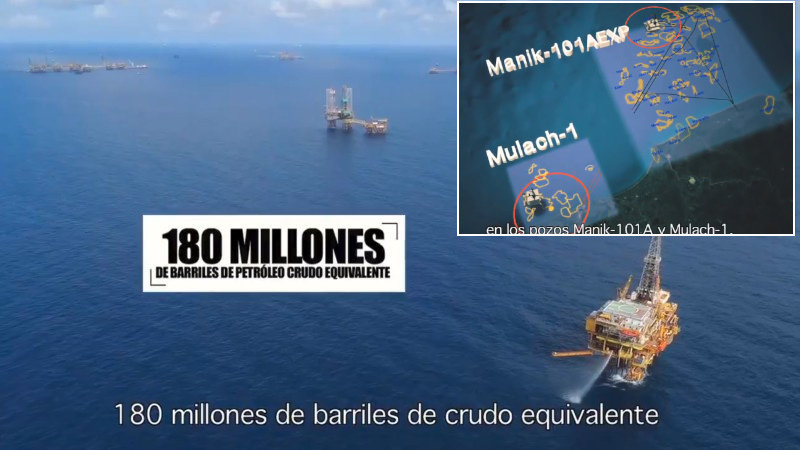 Pemex hallo petroleo 180 millones barriles manik mulach