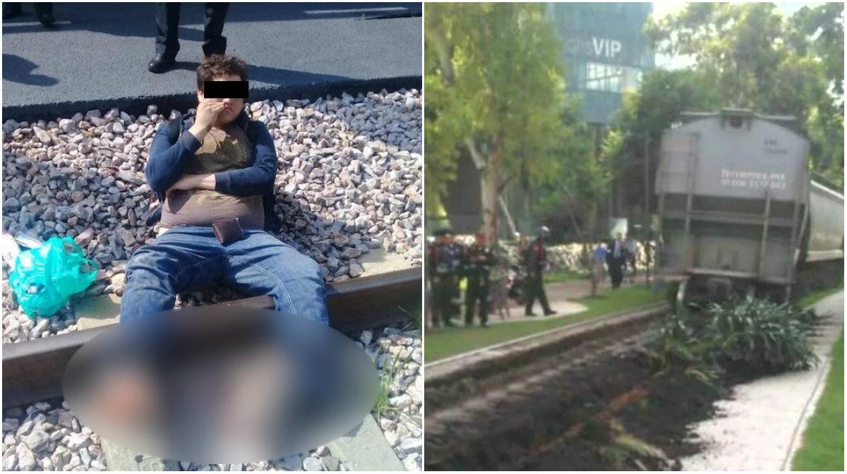 Tren le corta los pies por tomrase selfie