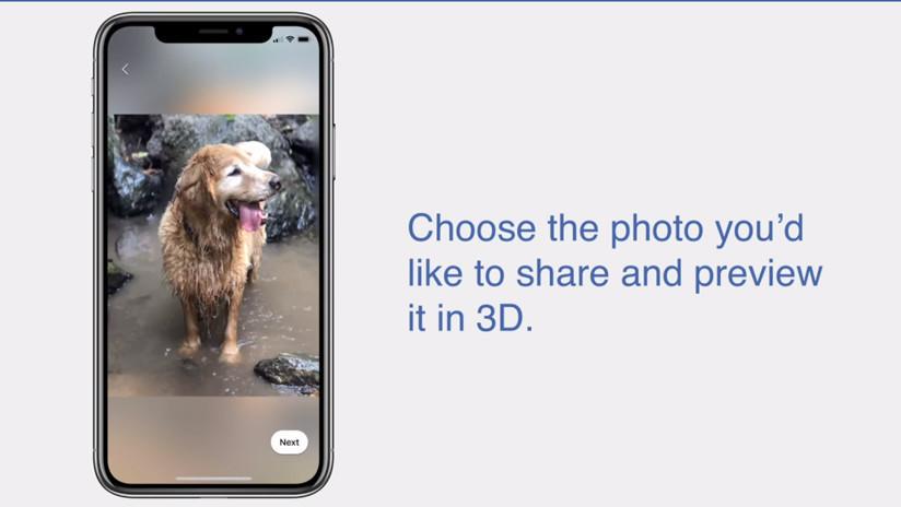 Facebook lanzó su nueva función para publicar fotos en 3D