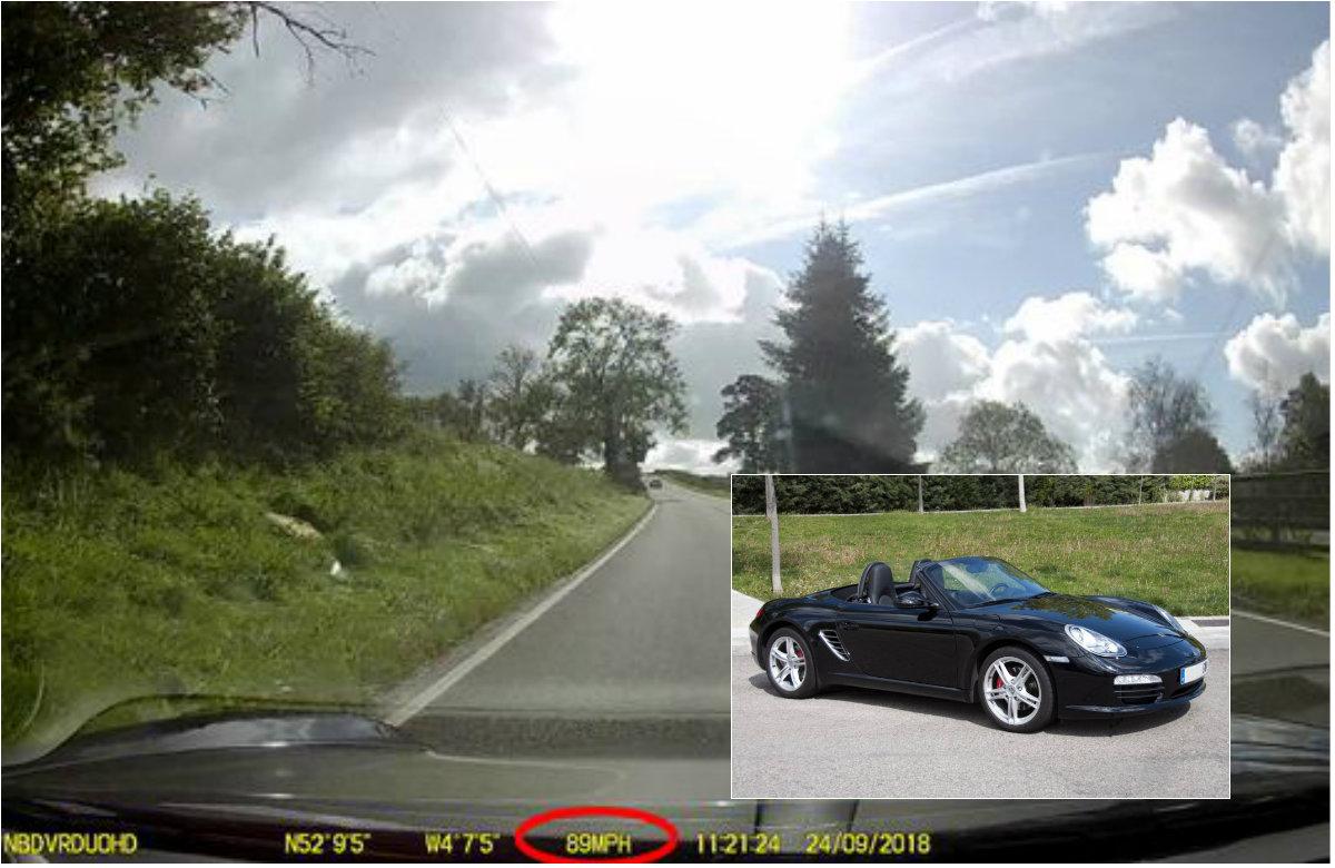 Porsche alta velocidad