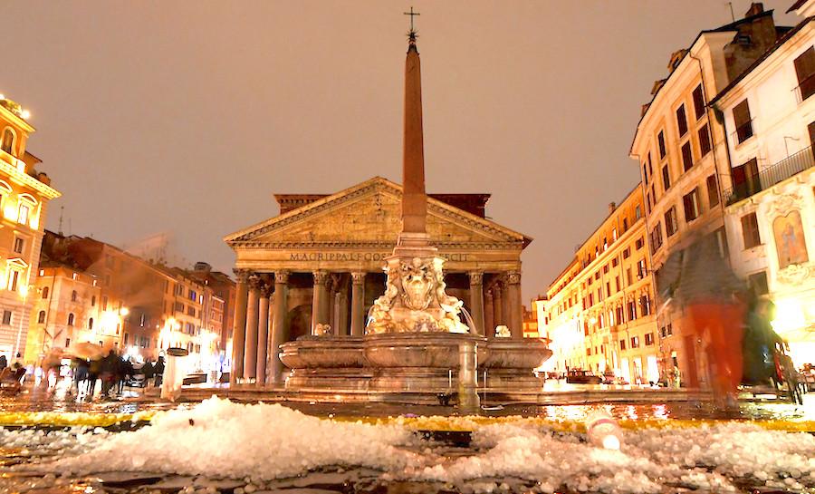 Roma vivió una tormenta de pesadilla con