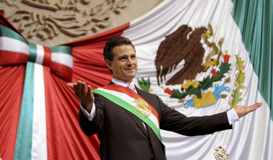 Enrique pena toma protesta presidente