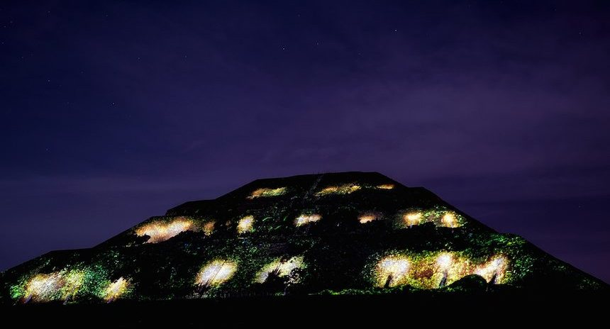 As lucieron las pir mides de teotihuac n en espect culo for Espectaculo de luces teotihuacan 2018