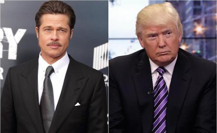 Brad Pitt se burla del discurso de Donald Trump
