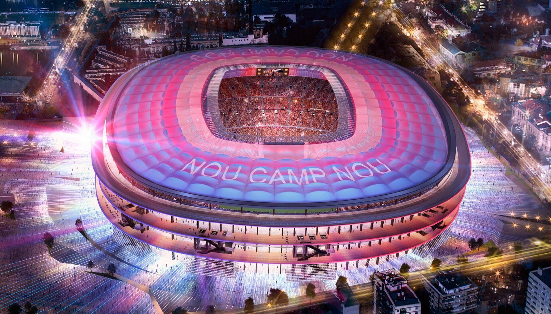 Los m s impresionantes estadios de f tbol del futuro tiempo for Hotel vicino al camp nou