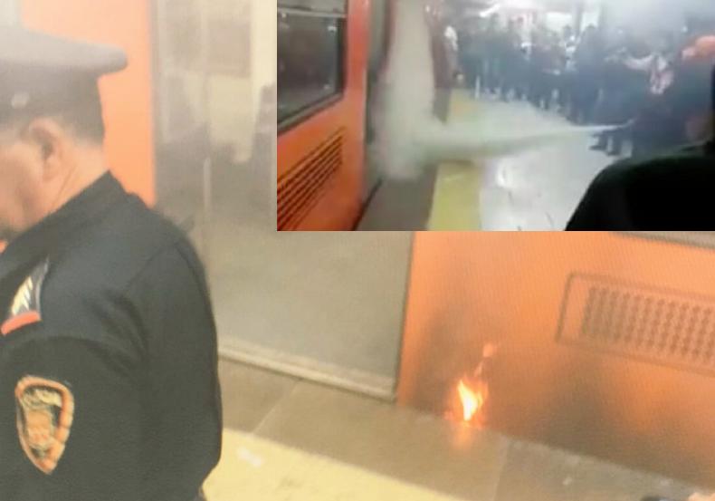 Metro Cuauhtémoc se llena de humo por incendio