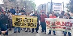Relacionada taxistas manifestantes