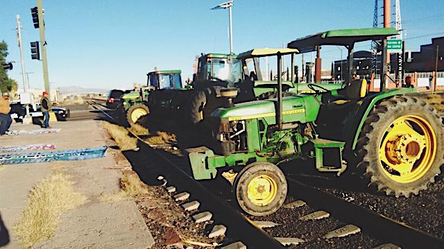 Toma tractores vias