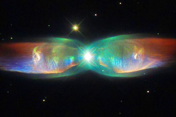 The cosmic butterfly of death