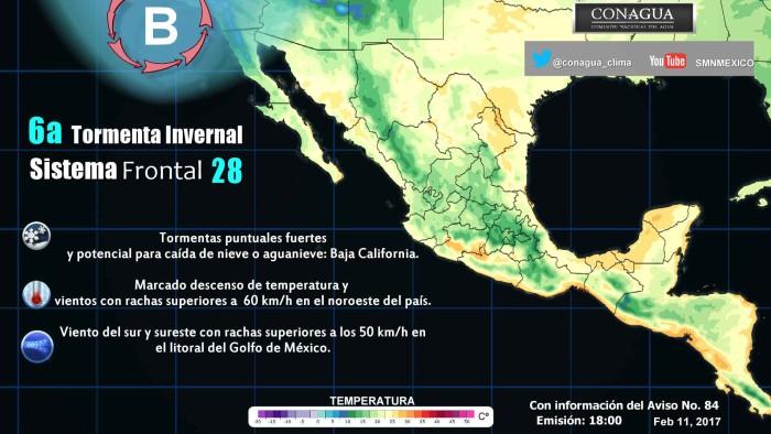 Prevalecerá frío en entidades del noreste y norte de México