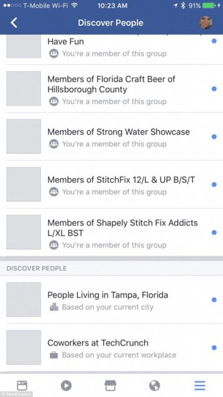 Facebook discovery 2