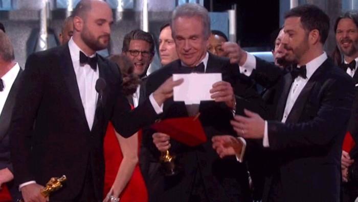 Trump habló del error en el final de los Oscar